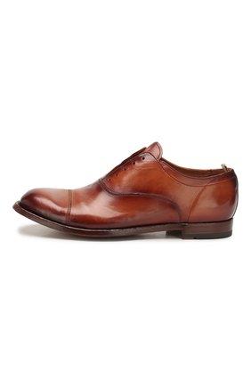 Мужские кожаные оксфорды OFFICINE CREATIVE коричневого цвета, арт. ANAT0MIA/08/AER0 CANY0N | Фото 3 (Материал внутренний: Натуральная кожа; Стили: Классический)
