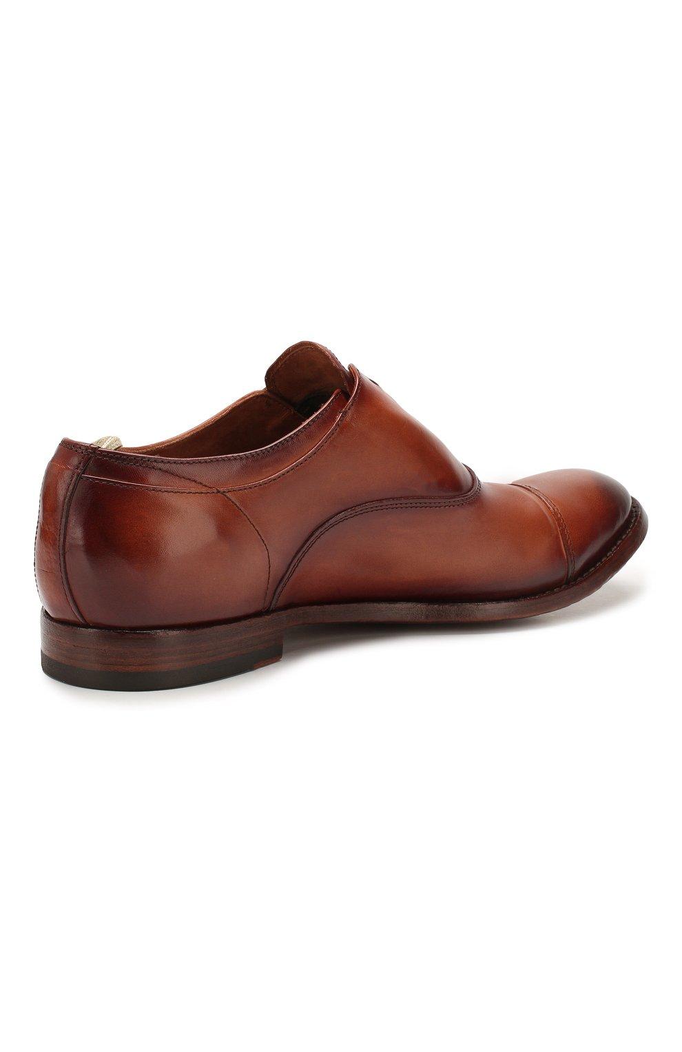 Мужские кожаные оксфорды OFFICINE CREATIVE коричневого цвета, арт. ANAT0MIA/08/AER0 CANY0N | Фото 4 (Материал внутренний: Натуральная кожа; Стили: Классический)