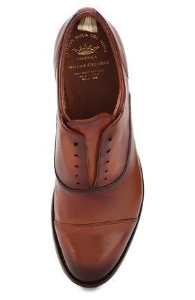 Мужские кожаные оксфорды OFFICINE CREATIVE коричневого цвета, арт. ANAT0MIA/08/AER0 CANY0N | Фото 5 (Материал внутренний: Натуральная кожа; Стили: Классический)