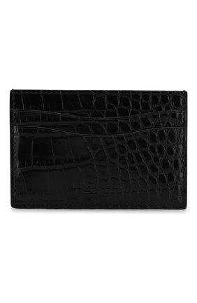 Мужской футляр для кредитных карт из кожи аллигатора RALPH LAUREN черного цвета, арт. 436132472/AMIS | Фото 1