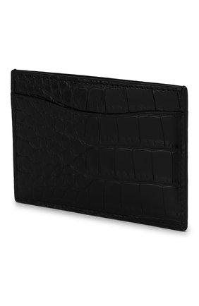 Мужской футляр для кредитных карт из кожи аллигатора RALPH LAUREN черного цвета, арт. 436132472/AMIS | Фото 2