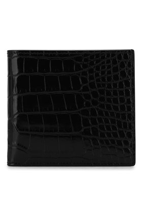 Мужской портмоне из кожи аллигатора RALPH LAUREN черного цвета, арт. 436132470/AMIS | Фото 1