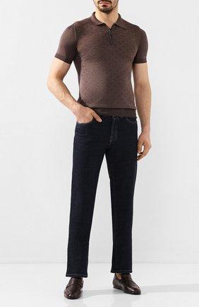 Мужские кожаные пенни-лоферы HARRYS OF LONDON коричневого цвета, арт. EDWARD S0FT F DEERSKIN | Фото 2