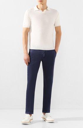 Мужские кожаные пенни-лоферы BARRETT белого цвета, арт. RUSH-025.19/MASTCALF | Фото 2