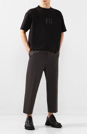 Мужские комбинированные ботинки JIL SANDER черного цвета, арт. JI33510A-11600 | Фото 2
