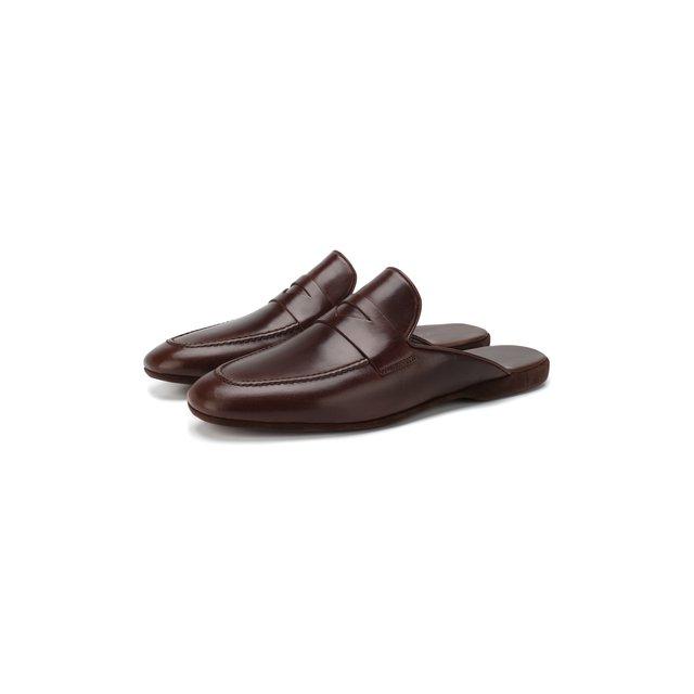 Кожаные домашние туфли