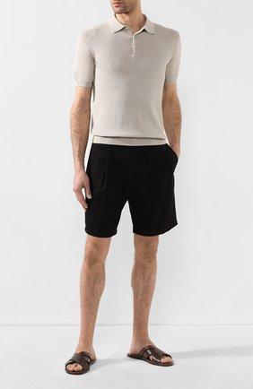 Мужские кожаные шлепанцы SILVANO SASSETTI темно-коричневого цвета, арт. S19957X409AELBAPI0M | Фото 2