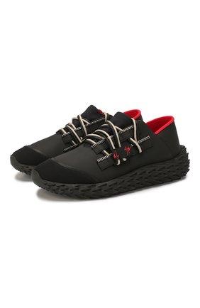 Мужские текстильные кроссовки GIUSEPPE ZANOTTI DESIGN черного цвета, арт. RM00031/001 | Фото 1