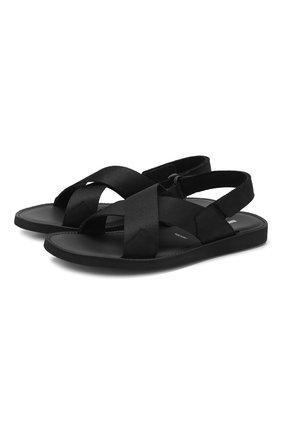 Мужские комбинированные сандалии BRUNO BORDESE черного цвета, арт. BBUFL03M | Фото 1
