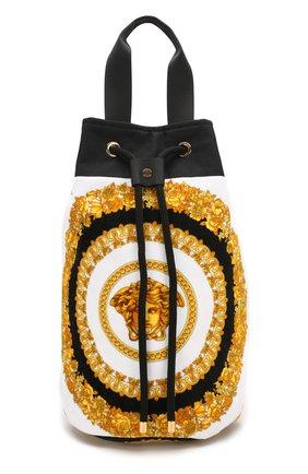 Мужская текстильная пляжная сумка VERSACE золотого цвета, арт. ZBAG00001/ZC0SP107 | Фото 1