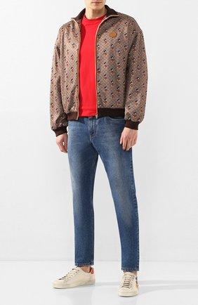 Мужские кожаные кеды disney x gucci GUCCI белого цвета, арт. 603697/AY070 | Фото 2