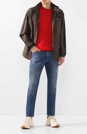 Мужские кожаные кроссовки disney x gucci GUCCI белого цвета, арт. 601370/DRW00 | Фото 2