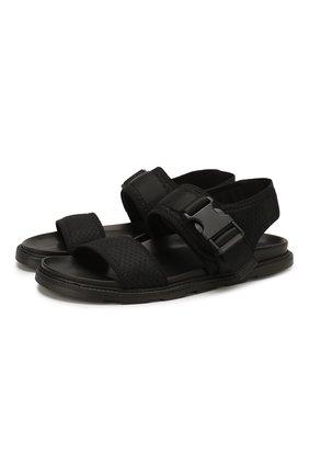Мужские текстильные сандалии VIC MATIE черного цвета, арт. 1X8194U.X02C5BB001 | Фото 1