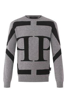 Мужской свитер PHILIPP PLEIN серого цвета, арт. S20C MKO0754 PKN002N | Фото 1