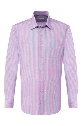 Мужская рубашка из смеси хлопка и льна ZILLI голубого цвета, арт. MFT-02103-01190/RZ02   Фото 1