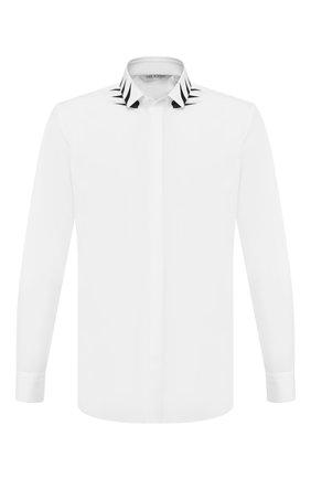 Мужская хлопковая рубашка NEIL BARRETT белого цвета, арт. PBCM1298S/N007S | Фото 1
