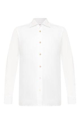 Мужская хлопковая рубашка KITON белого цвета, арт. UMCNERH0721701 | Фото 1