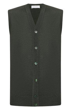 Мужской шерстяной жилет CRUCIANI темно-зеленого цвета, арт. CU164B.C75F6V | Фото 1