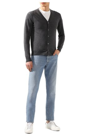Мужская шерстяной кардиган CRUCIANI серого цвета, арт. CU164B.C05F6V | Фото 2