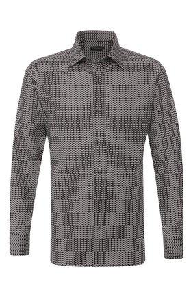 Мужская сорочка TOM FORD черно-белого цвета, арт. 7FT931/94VREG | Фото 1