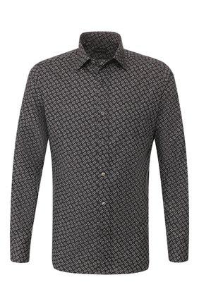 Мужская сорочка TOM FORD черно-белого цвета, арт. 7FT941/94VREG | Фото 1