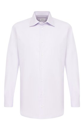 Мужская хлопковая сорочка BRIONI сиреневого цвета, арт. RCLU1S/P907L | Фото 1