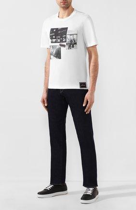 Мужские джинсы GIORGIO ARMANI темно-синего цвета, арт. 3HSJ65/SDF6Z | Фото 2