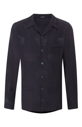 Мужская шелковая сорочка DOLCE & GABBANA темно-синего цвета, арт. G5GW1T/FJ1HL | Фото 1
