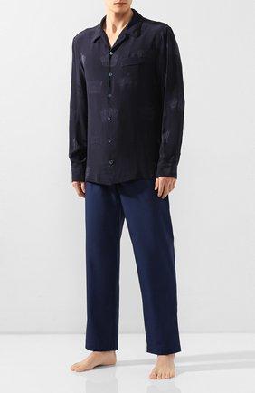 Мужская шелковая сорочка DOLCE & GABBANA темно-синего цвета, арт. G5GW1T/FJ1HL | Фото 2