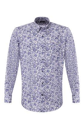 Мужская хлопковая рубашка PAUL&SHARK синего цвета, арт. P20P3040 | Фото 1