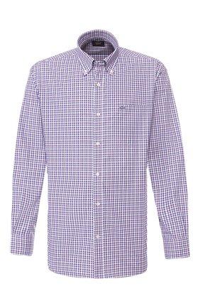 Мужская хлопковая рубашка PAUL&SHARK синего цвета, арт. P20P3184 | Фото 1