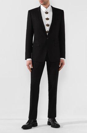 Мужской шерстяной костюм DOLCE & GABBANA черного цвета, арт. GK0QMT/FJBAD | Фото 1
