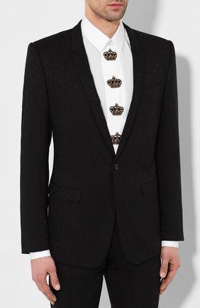 Мужской шерстяной костюм DOLCE & GABBANA черного цвета, арт. GK0QMT/FJBAD | Фото 2