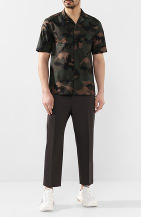 Мужская хлопковая рубашка VALENTINO хаки цвета, арт. TV3AA7695U9 | Фото 2