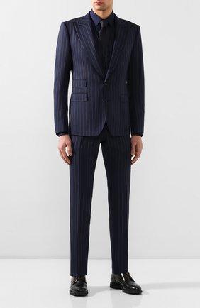 Мужской шерстяной костюм-тройка DOLCE & GABBANA синего цвета, арт. GKC8MT/FR3E3 | Фото 1