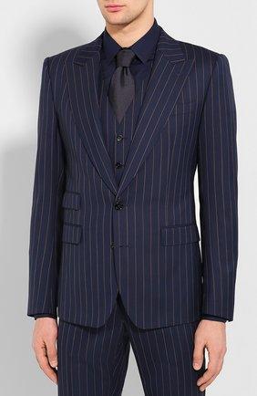 Мужской шерстяной костюм-тройка DOLCE & GABBANA синего цвета, арт. GKC8MT/FR3E3 | Фото 2