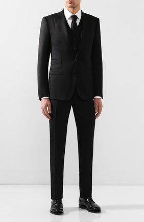 Мужской шерстяной костюм-тройка DOLCE & GABBANA черного цвета, арт. GKC8MT/FJ2BF | Фото 1