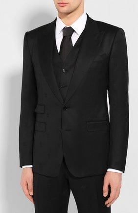 Мужской шерстяной костюм-тройка DOLCE & GABBANA черного цвета, арт. GKC8MT/FJ2BF | Фото 2