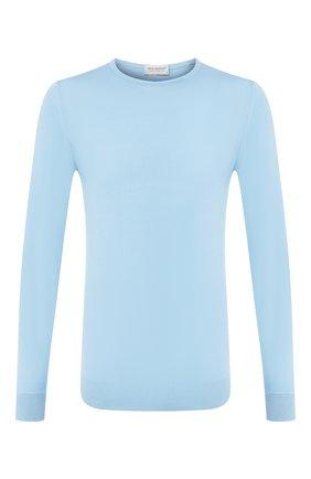 Мужской хлопковый джемпер  JOHN SMEDLEY голубого цвета, арт. HATFIELD | Фото 1