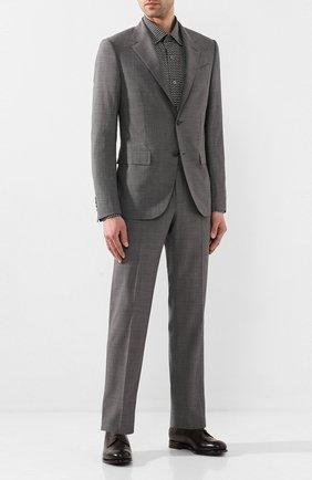 Мужской шерстяной костюм ERMENEGILDO ZEGNA серого цвета, арт. 722592/20PWKL | Фото 1