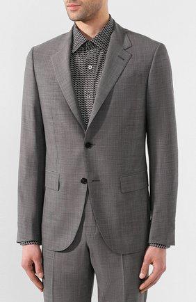 Мужской шерстяной костюм ERMENEGILDO ZEGNA серого цвета, арт. 722592/20PWKL | Фото 2