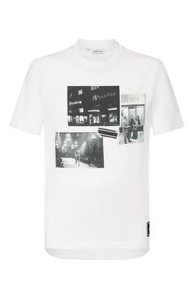 Мужская хлопковая футболка BRIONI белого цвета, арт. UJCH0L/P9650 | Фото 1