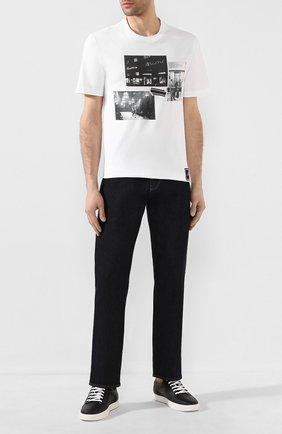 Мужская хлопковая футболка BRIONI белого цвета, арт. UJCH0L/P9650 | Фото 2