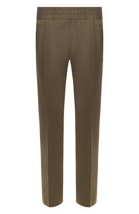 Мужские хлопковые брюки BRIONI хаки цвета, арт. UJET0L/P9608 | Фото 1