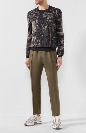 Мужские хлопковые брюки BRIONI хаки цвета, арт. UJET0L/P9608 | Фото 2