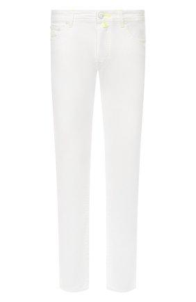Мужские джинсы JACOB COHEN белого цвета, арт. J688 YELL0W C 01863-SW/53 | Фото 1