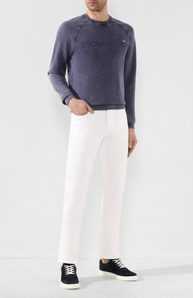 Мужские джинсы JACOB COHEN белого цвета, арт. J688 YELL0W C 01863-SW/53 | Фото 2
