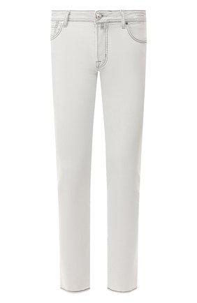 Мужские джинсы JACOB COHEN светло-серого цвета, арт. J688 C0MF 07729-W4/53   Фото 1