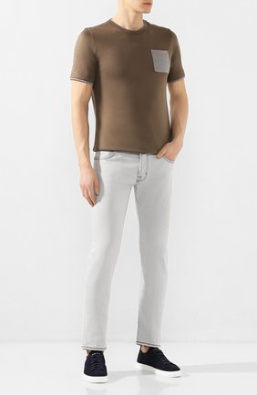 Мужские джинсы JACOB COHEN светло-серого цвета, арт. J688 C0MF 07729-W4/53   Фото 2
