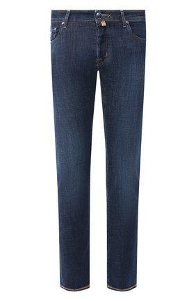 Мужские джинсы JACOB COHEN темно-синего цвета, арт. J688 C0MF 01851-W2/53   Фото 1